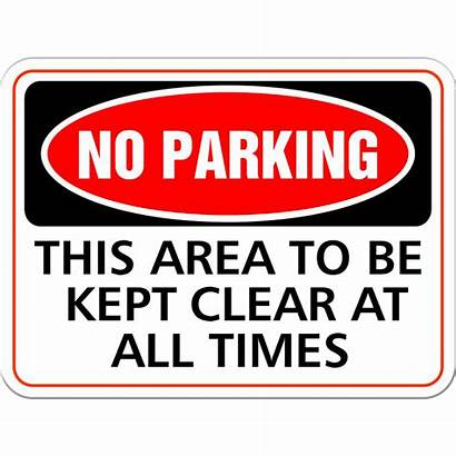 Parking Clear Area Sign Kept Times Signs