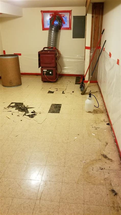 project file lisle asbestos tile  mastic removal
