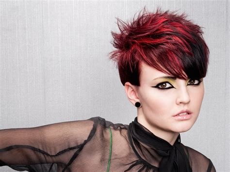 Colour Hairstyles spiky haircut with daring hair color contrasts