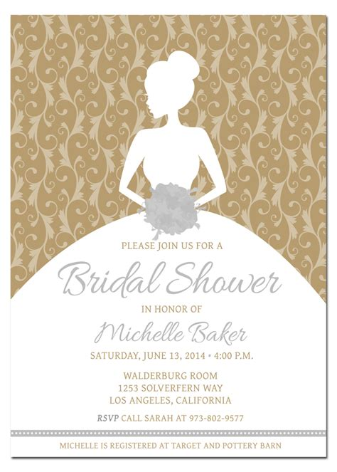 Free Bridal Shower Templates by Printable Diy Bridal Shower Invitation Template With