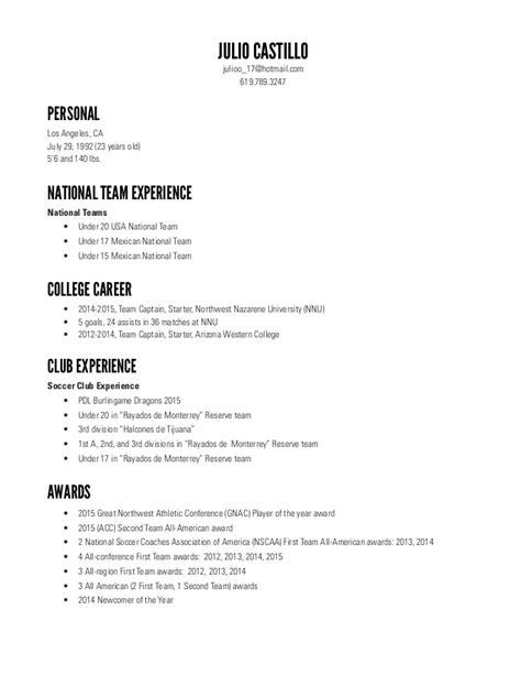 Soccer Resume by Julio Castillo Soccer Resume 7