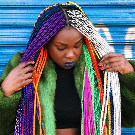 Rainbow Hairstyles Natural Hair Braids Locs Dreads