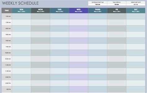 weekly employee shift schedule template excel planner template