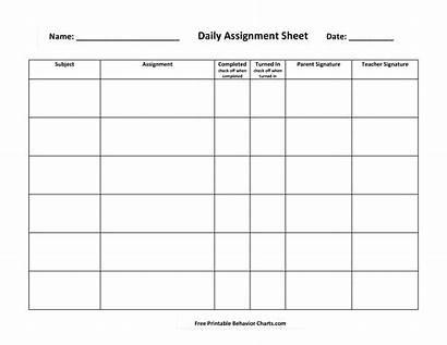Assignment Daily Templates Sheet Template Homework Nursing