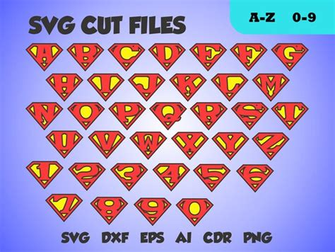 superman font perfect cut monogram letters svg cut file