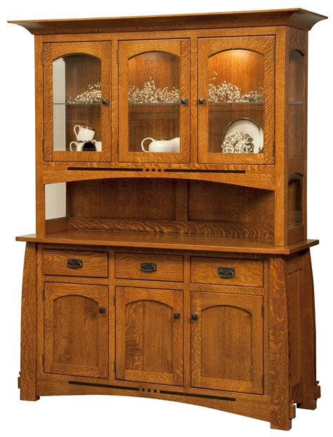 Mission Style Dining Room Cabinets With Drawer And Glass