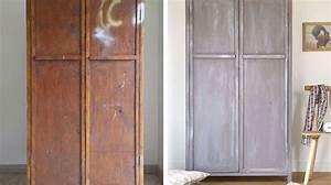 Relooker Porte Placard : peinture meuble relooker son mobilier avec de la couleur c t maison ~ Dode.kayakingforconservation.com Idées de Décoration