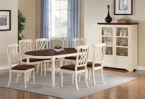 Cottage dining room table, modern oval dining table