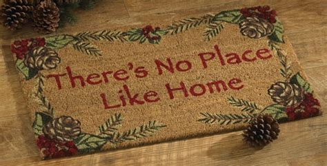 there s no place like home pinecone doormat