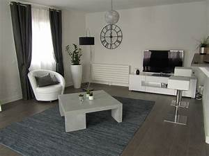 quelle deco salon gris et blanc With deco salon gris blanc