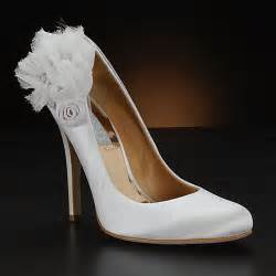 wedding shoes white beautiful wedding shoes with flower accents all about shoes accessories