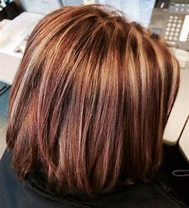 Brown hair with caramel highlights and red highlights ...