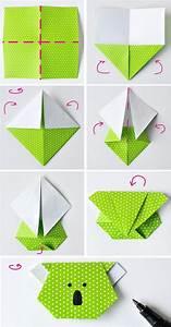 Faire Des Origami : comment faire des origami facile tuto marque page koala en papier tapes de pliage origami ~ Nature-et-papiers.com Idées de Décoration