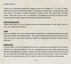 Breakaway Suit Owner U0026 39 S Manual