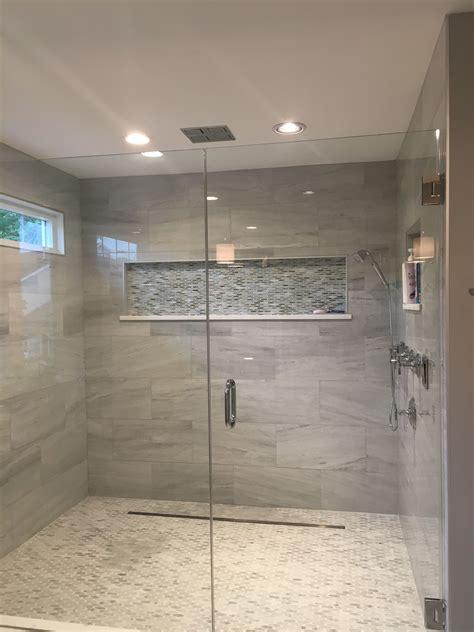 glass shower  niche   home   master