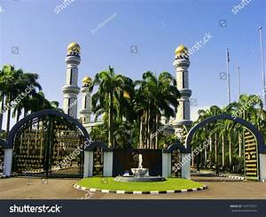 Jame U0026 39 Asr Hassanil Bolkiah Mosque  Bandar Seri Begawan  Brunei  Southeast Asia Stock Photo