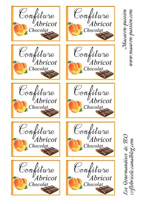 confiture abricot et chocolat 233 tiquettes 1 2 3 flo bricole les gourmandises de flo