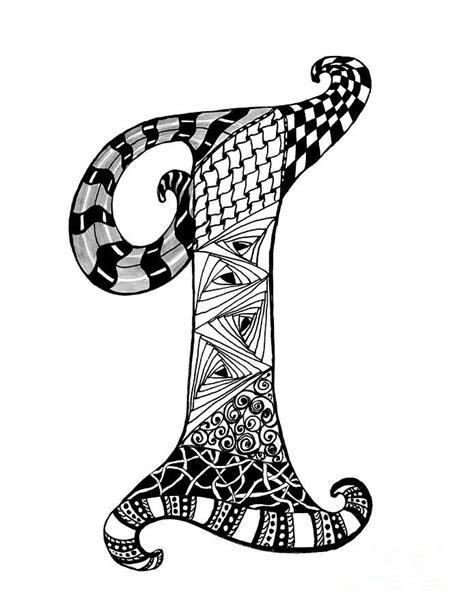 zentangle letter y monogram drawing zentangle alpha zentangle letter i monogram in black and white drawing 87671
