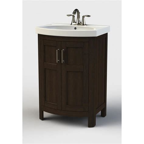 18 bathroom vanity with sink style selections morecott chocolate integrated single sink