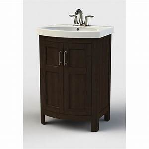style selections morecott chocolate integrated single sink With 24 x 18 bathroom vanity