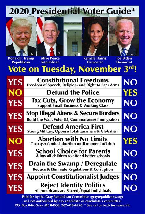 The Gray Republicans | 2020 Presidential Scorecard / Voter ...