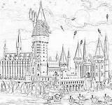 Hogwarts sketch template
