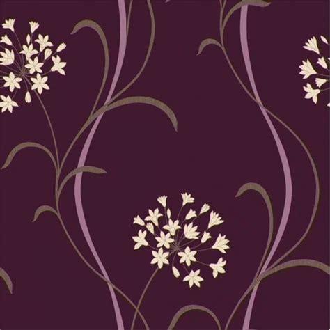 arthouse mia motif wallpaper purple cream beige