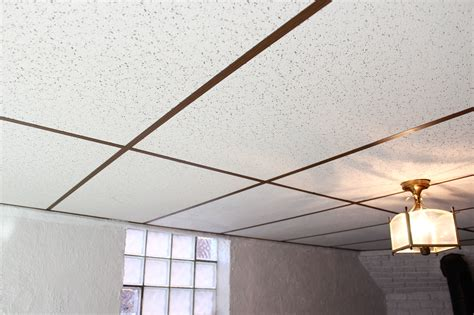 Drop Ceiling by Basement Drop Ceiling Makeover With Home Depot The