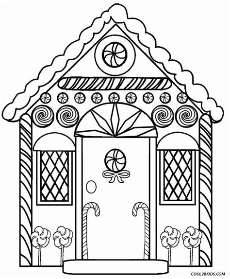 gingerbread house coloring pages    print