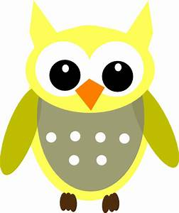 Cute Yellow Gray Owl Clip Art at Clker.com - vector clip ...