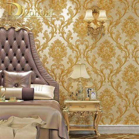 luxury simple european  striped damask wallpaper