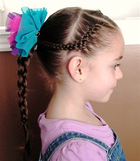 little girl s hairstyles how to use a 4 strand braid