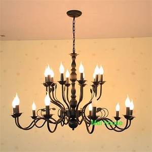 Dining Room Light Fixtures Country っluxury Rustic Wrought Iron Chandelier E14 E14 Candle