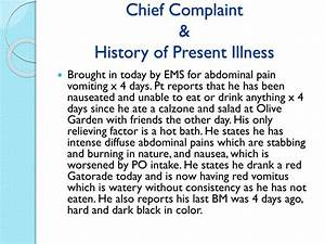 chief complaint related keywords suggestions chief With history of present illness template