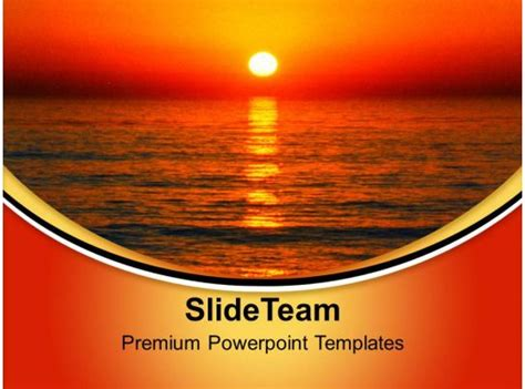 sunset background nature powerpoint templates  themes