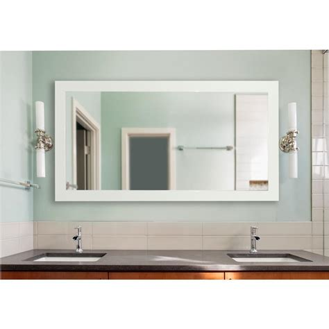 Home Depot Bathroom Vanity Mirrors by 72 In X 39 In Delta White Large Vanity Mirror
