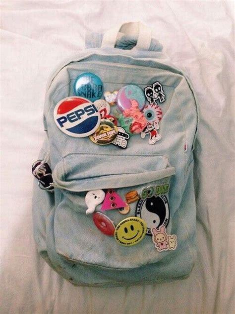 denim backpack pins bags denim backpack kawaii bags