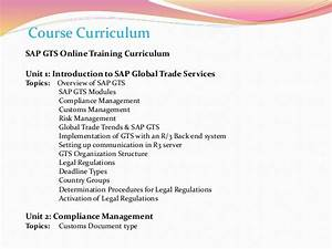 Sap Gts Online Training