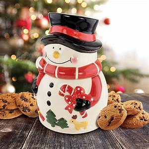 snowman, holiday, ceramic, cookie, jar
