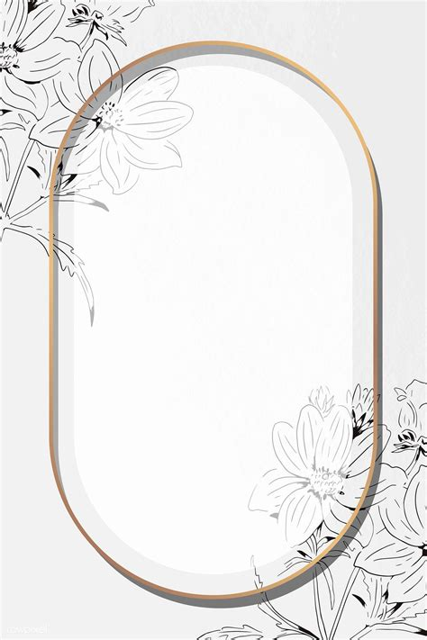 Download premium vector of Oval golden tropical frame ...