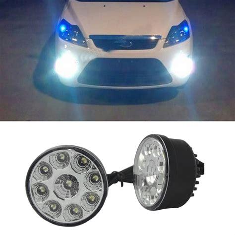 all auto lights 2 x bright white 9 led front fog light