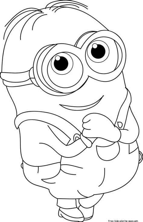 minions dave coloring page  kids  printable coloring pages  kidsfree printable