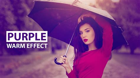 Photoshop Tutorial  Purple Color Effect Youtube