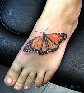 Monarch butterfly tattoo | Realistic & 3D Butterfly ...