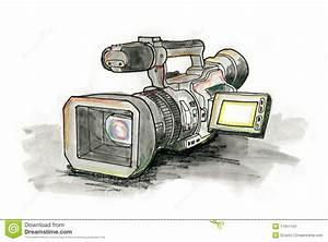 Professional Video Camera stock illustration. Illustration ...