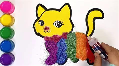 Draw cute cat scenery menggambar pemandangan kucing lucuподробнее. Учим цвета. Kucing Lucu Warna Warni Belajar Menggambar dan ...