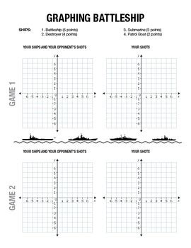Math Worksheets Coordinate Plane Battleship Math Best Free Printable Worksheets