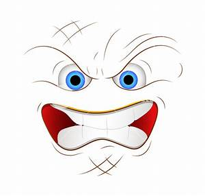 Cartoon Angry Face Expression Vector Illustration Royalty ...