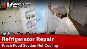 Refrigerator Repair - Fresh Food Section Not Cooling - Ice On Evaporator Tfx24prxb