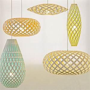 Lustre Bois Design : la lampe hinaki est une suspension en bois de bambou ~ Teatrodelosmanantiales.com Idées de Décoration